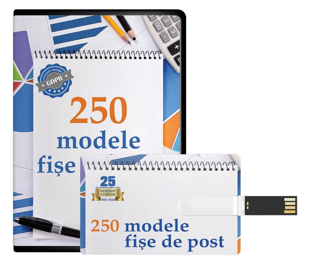 250 Modele de fise de post EDITABILE actualizate conform GDPR