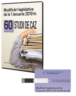 Modificari legislative de la 1 ianuarie 2019 in 60 studii de caz