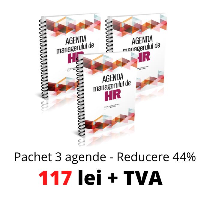 Pachet 3 exemplare - Agenda Managerului de HR