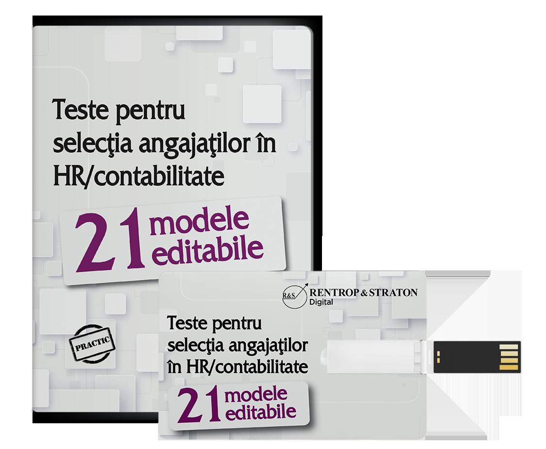 21 Modele de teste pentru selectia angajatilor in HR /contabilitate