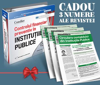 Consilier Controlul financiar preventiv + un CADOU Special