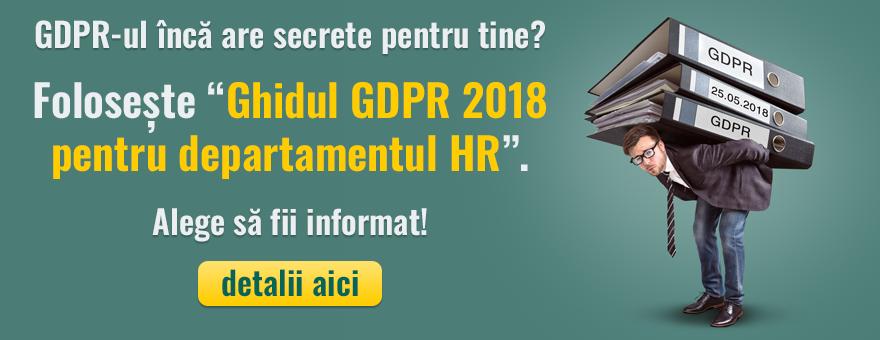 Ghid complet GDPR pentru HR