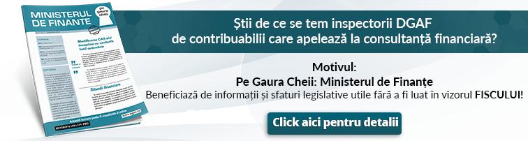 Pe Gaura Cheii: Ministerul de Finante