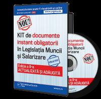 KIT-ul de documente instant obligatorii in Legislatia Muncii si Salarizare