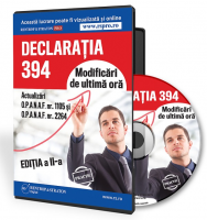 Declaratia 394. Modificari de ultima ora