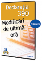 Declaratia 390. Modificari de ultima ora