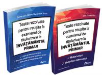 Pachet Teste REZOLVATE pentru reusita la examenul de titularizare in invatamantul primar - INVATATORI 2 culegeri