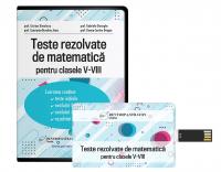 Teste rezolvate matematica clasele V-VIII - format stick USB